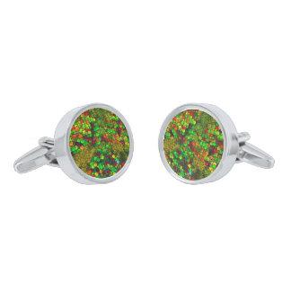 cubos artísticos (i) verde gemelos plateados