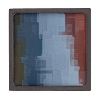 cubos azules blancos rojos cajas de recuerdo de calidad