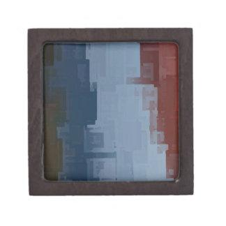 cubos azules blancos rojos cajas de joyas de calidad