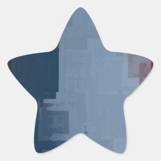 cubos azules blancos rojos pegatina en forma de estrella