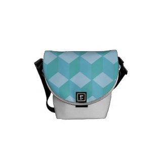 Cubos azules bolsas de mensajeria