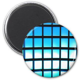 Cubos azules imán redondo 5 cm