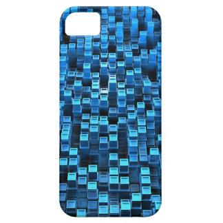 Cubos azules iPhone 5 carcasa
