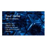 Cubos azules tarjetas de visita