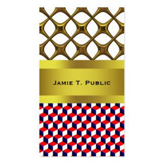 Cubos blancos y azul sombreados rojos de la mirada tarjetas personales
