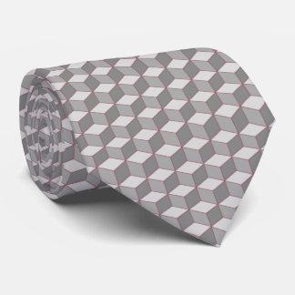 cubos blancos y negros con acento rojo corbata personalizada