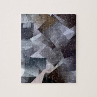 Cubos blancos y negros puzzle con fotos