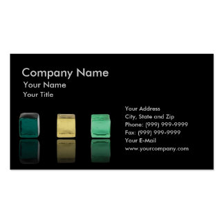 Cubos de cristal coloreados tarjetas de visita