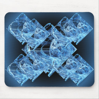Cubos de hielo azules alfombrilla de ratón