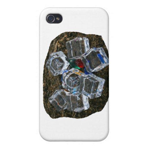 Cubos de hielo y bombillas en la fotografía de la  iPhone 4/4S carcasas
