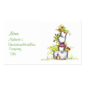 Cubos de jardines florales de la cabaña del arte tarjetas de visita