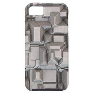 Cubos de metales pesados macizos iPhone 5 Case-Mate cobertura