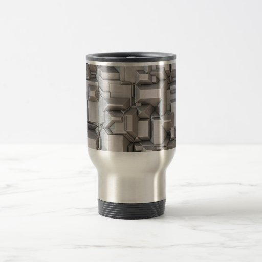 Cubos de metales pesados macizos taza