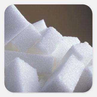 Cubos del azúcar blanco para el uso en los pegatina cuadrada