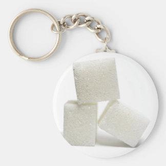 Cubos del azúcar llavero redondo tipo pin