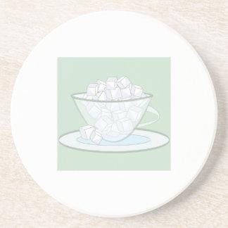 Cubos del azúcar posavasos diseño