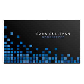 Cubos del azul del extracto de los servicios tarjetas de visita