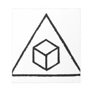 Cubos del delta bloc de papel