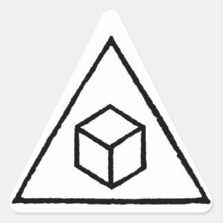 Cubos del delta pegatina triangular