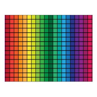 Cubos del espectro tarjeta postal