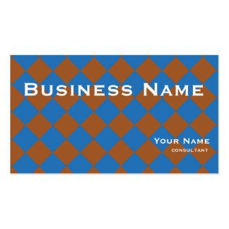 cubos del marrón azul tarjeta de visita