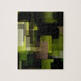 Cubos del musgo rompecabezas con fotos