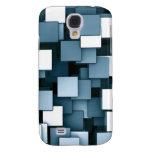 Cubos futuristas abstractos azules