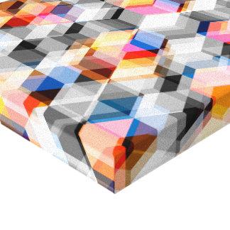 Cubos geométricos del gris y del naranja lona envuelta para galerias