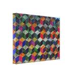 Cubos geométricos del vintage lienzo envuelto para galerias
