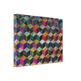 Cubos geométricos del vintage lona envuelta para galerias