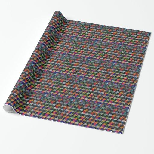 Cubos geométricos del vintage papel de regalo