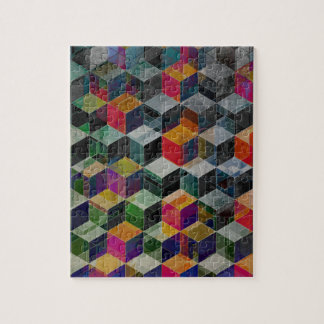 Cubos geométricos del vintage puzzle