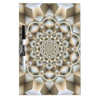 Cubos geométricos infinitos pizarras blancas