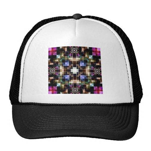 Cubos geométricos que brillan intensamente gorro