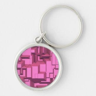Cubos macizos rosados de Techno Llavero Personalizado