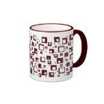 Cubos marrón tazas de café