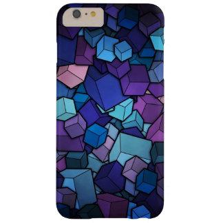 Cubos púrpuras funda de iPhone 6 plus barely there