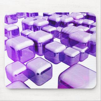 Cubos púrpuras alfombrilla de ratón