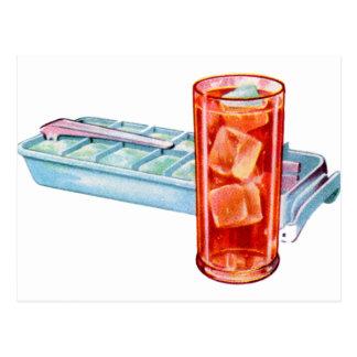 Cubos retros de la bandeja del cubo de hielo de lo postal