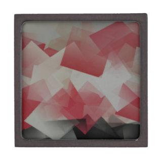 Cubos rojos y blancos caja de regalo de calidad