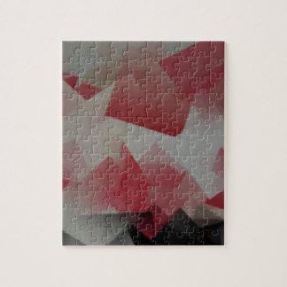 Cubos rojos y blancos puzzle