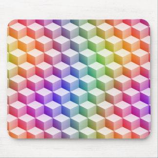 Cubos sombreados coloreados arco iris en colores p alfombrilla de ratón