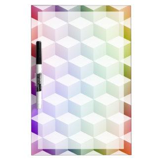 Cubos sombreados coloreados arco iris en colores pizarras blancas de calidad