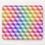 Cubos sombreados coloreados arco iris en colores alfombrilla de ratón