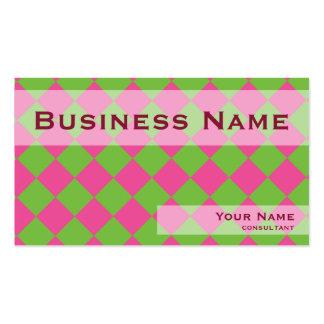 Cubos verdes rosados plantillas de tarjetas personales