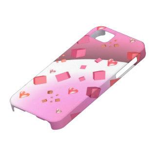 Cubos y corazones flotantes iPhone 5 Case-Mate fundas