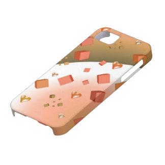 Cubos y corazones flotantes iPhone 5 cárcasa