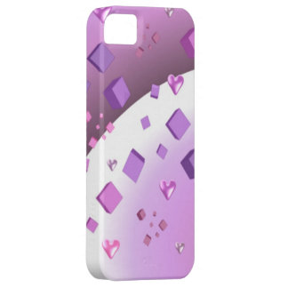 Cubos y corazones flotantes iPhone 5 cobertura