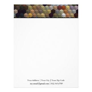 Cubos y cuadrado multicolores geométricos de los plantillas de membrete