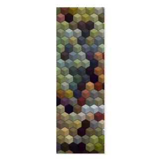 Cubos y cuadrado multicolores geométricos de los tarjeta de visita